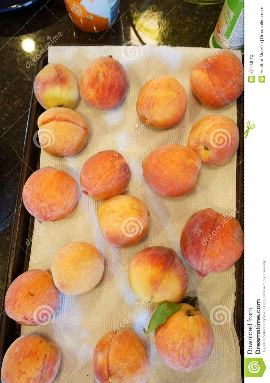Washed peaches