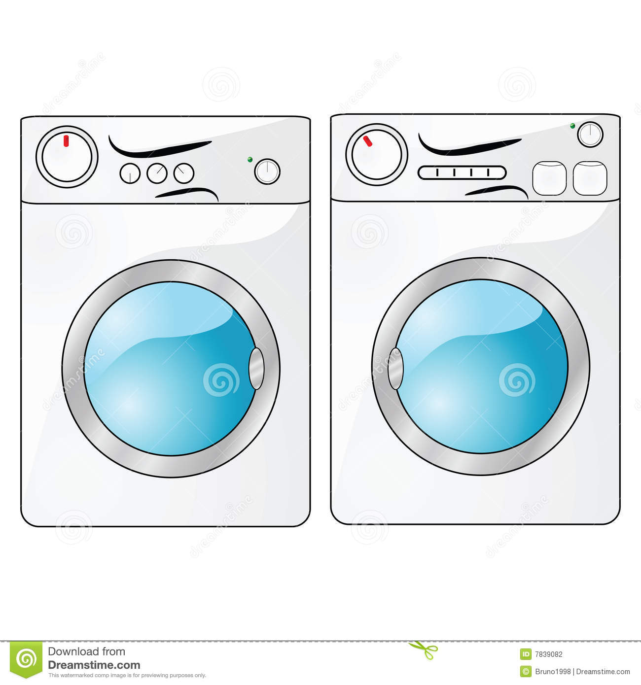 Dryer Clip Art ~ Washer and dryer stock photography image