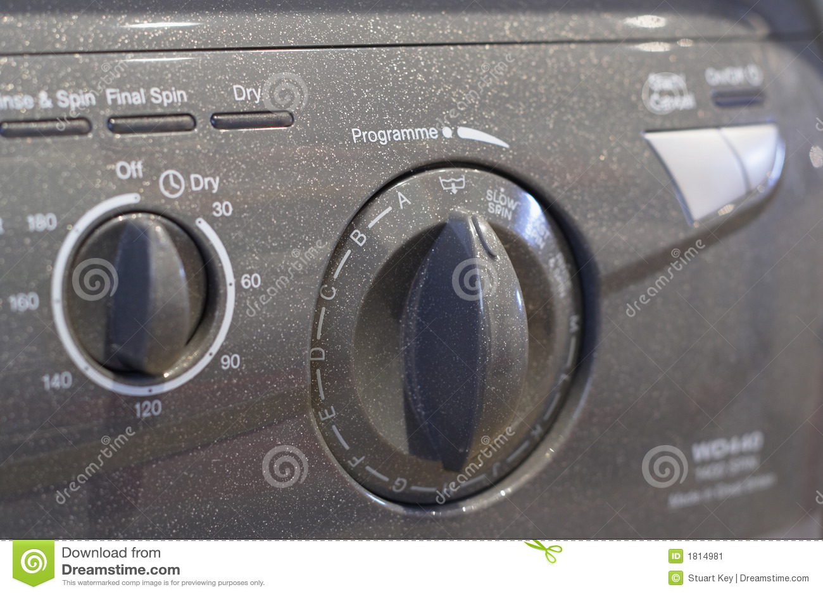 Washer Dryer panel