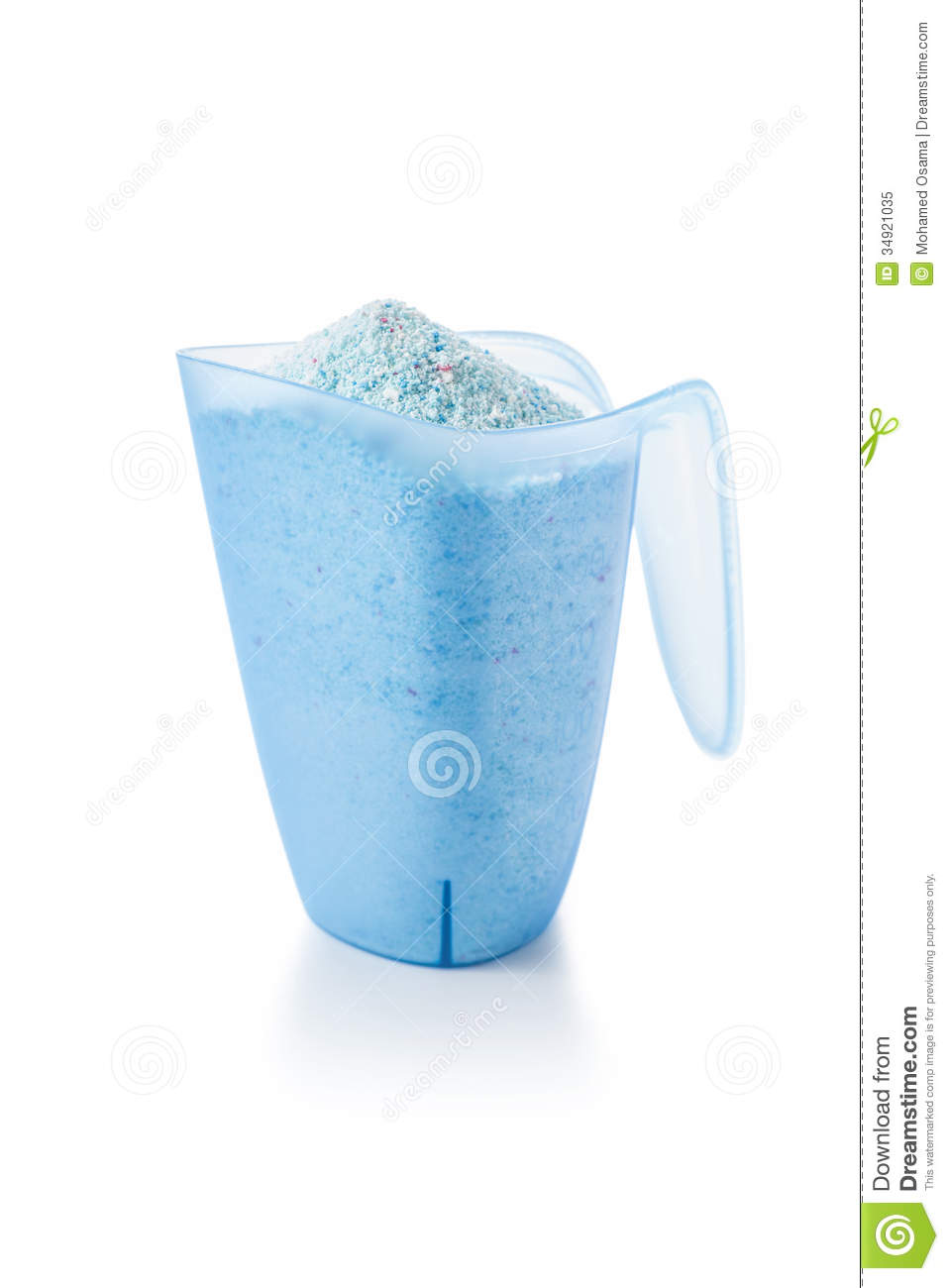 Washing Detergent Powder In A Measuring Cup Royalty Free