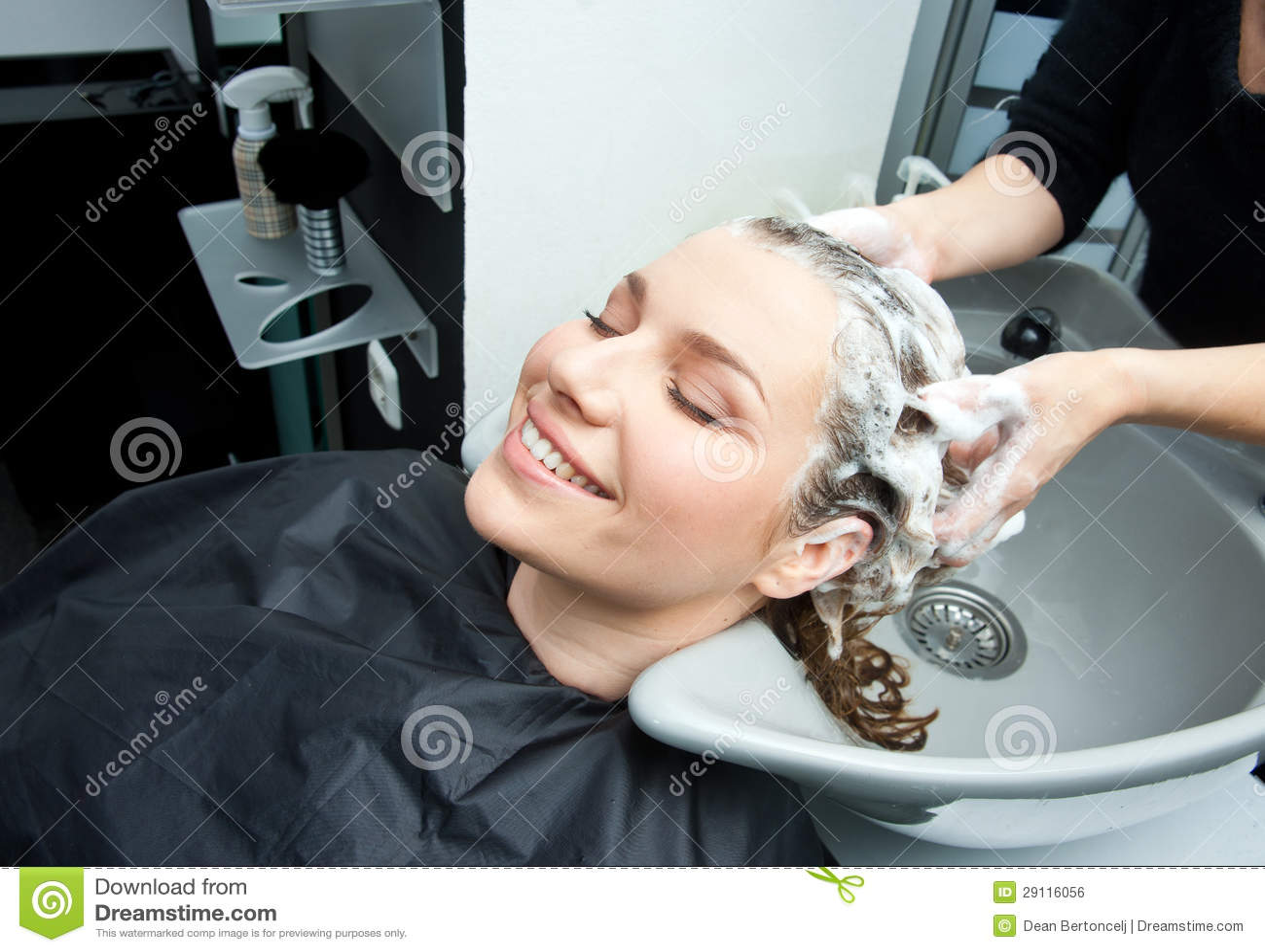 Washing hair in salon royalty free stock image image for Wash hair salon