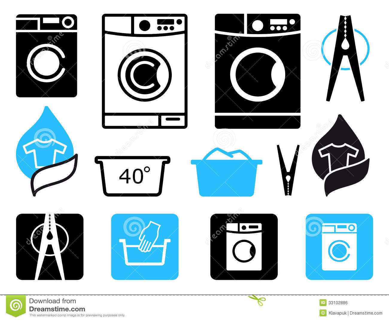Washing Icons Royalty Free Stock Image Image 33102886