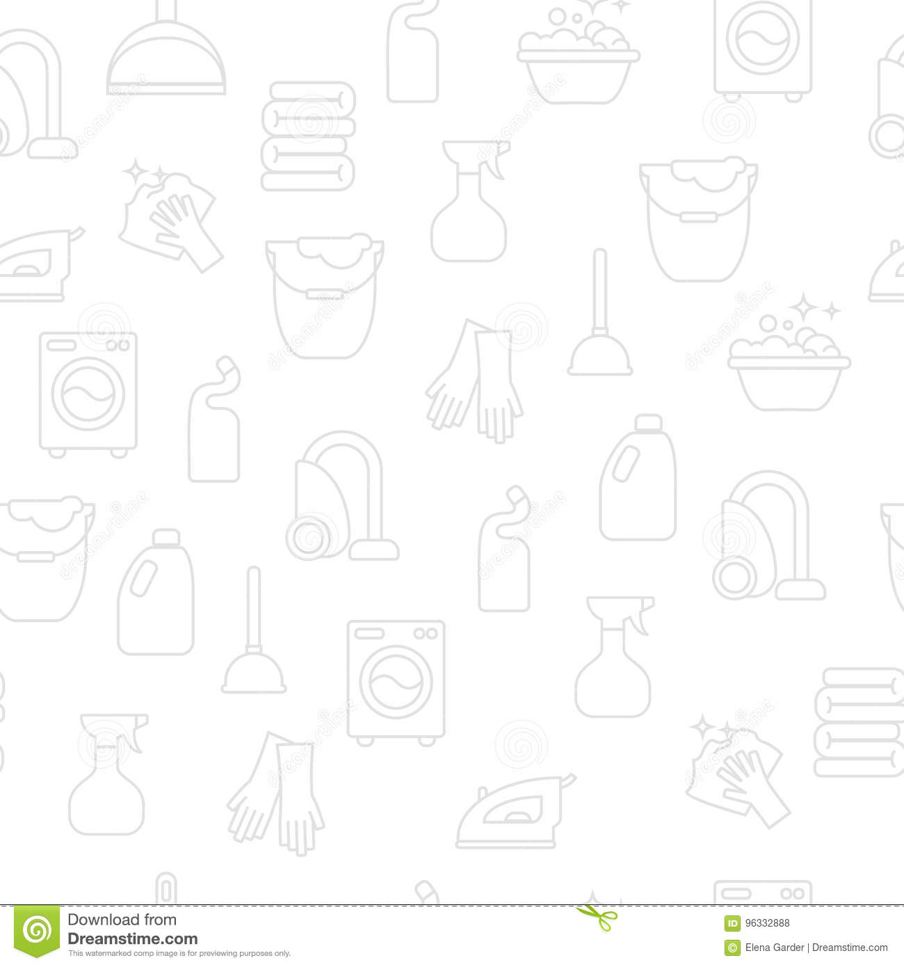Washing, ironing, clean laundry line icons. Washing machine, iron, handwash and other clining icon. Order in the house linear sign