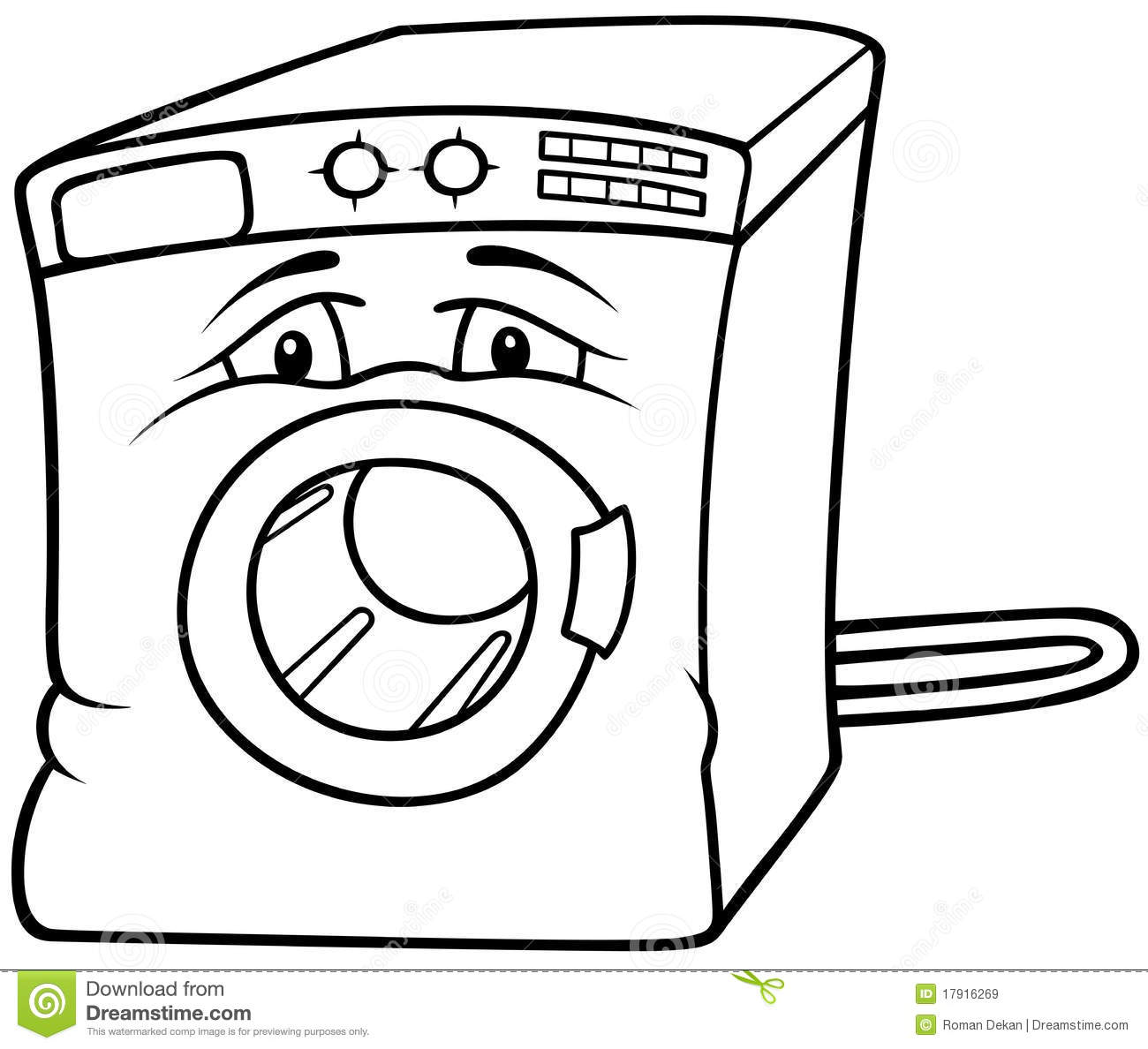 washing machine stock vector  illustration of electronic