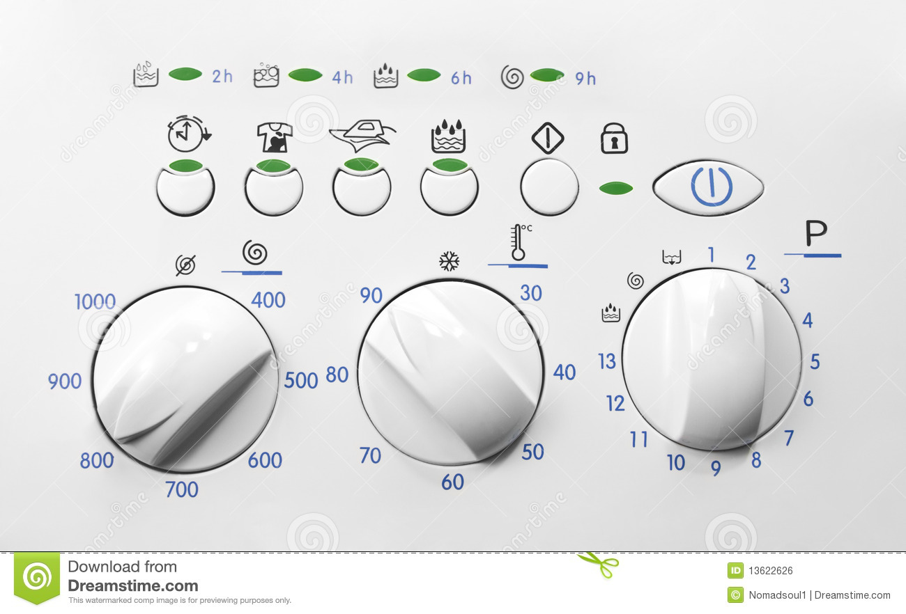 Washing Machine Control Panel Stock Photo Image Of Part