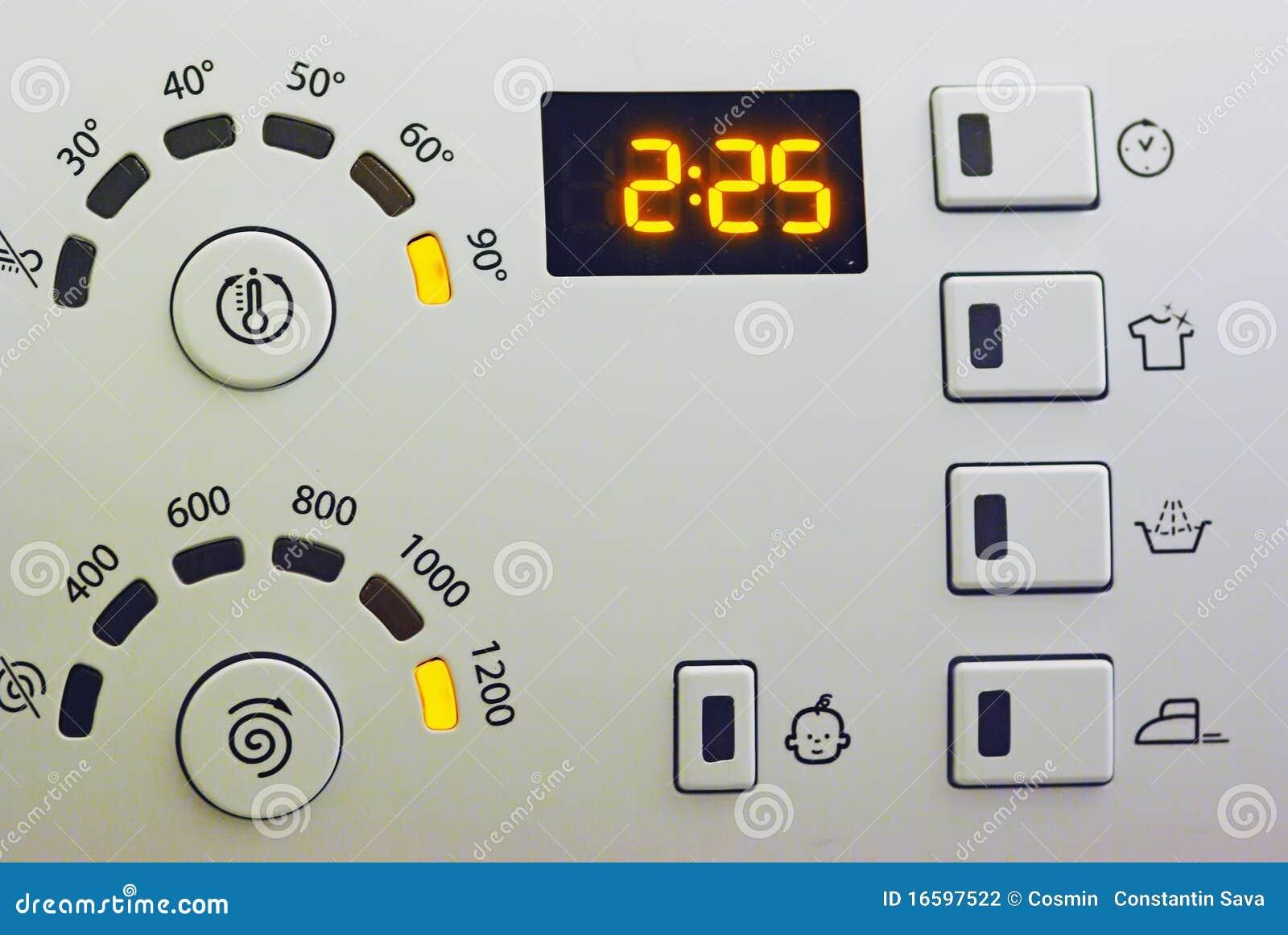 Washing Machine Controls : Washing machine control panel stock photography image