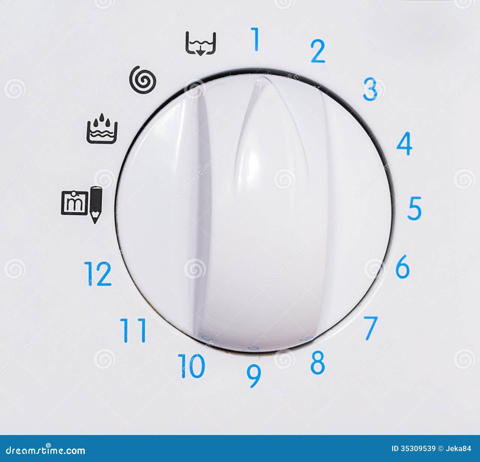 Washing Machine Controls : Washing machine control panel stock image