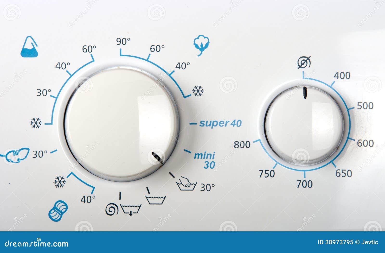 Washing Machine Controls : Washing machine control panel stock photo image