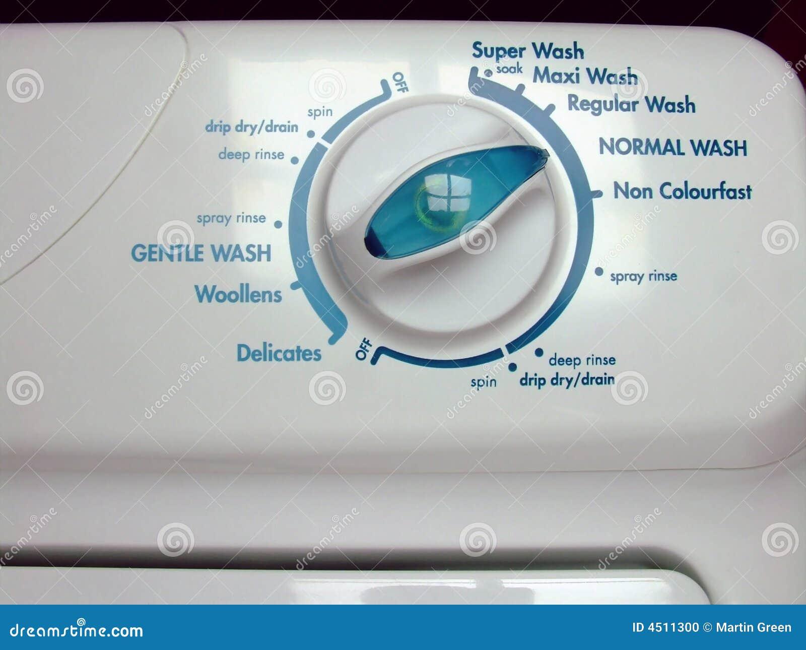 Washing Machine Controls : Washing machine controls stock photo image