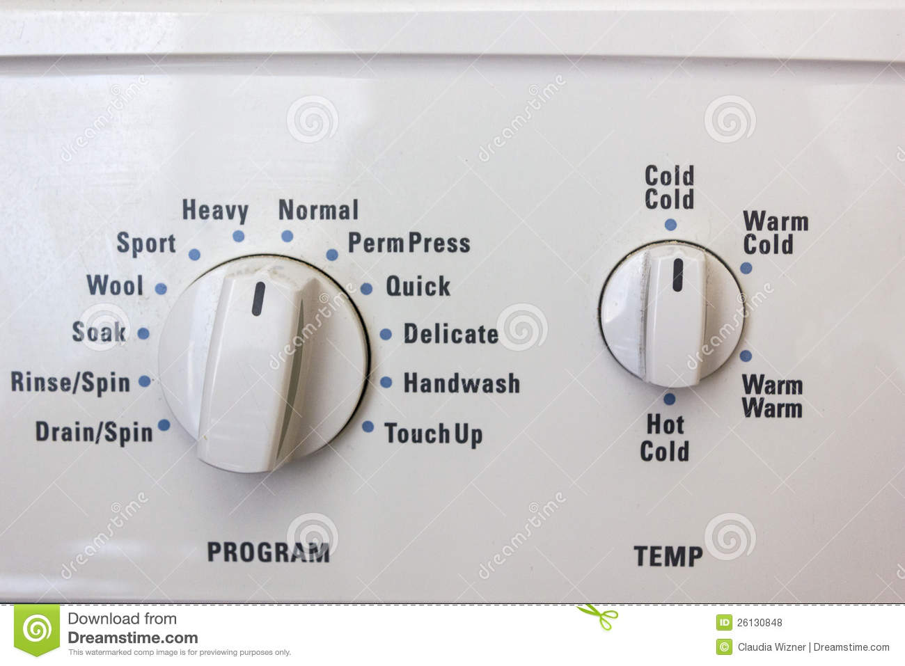 washing machine dials stock photo image of wash dial. Black Bedroom Furniture Sets. Home Design Ideas