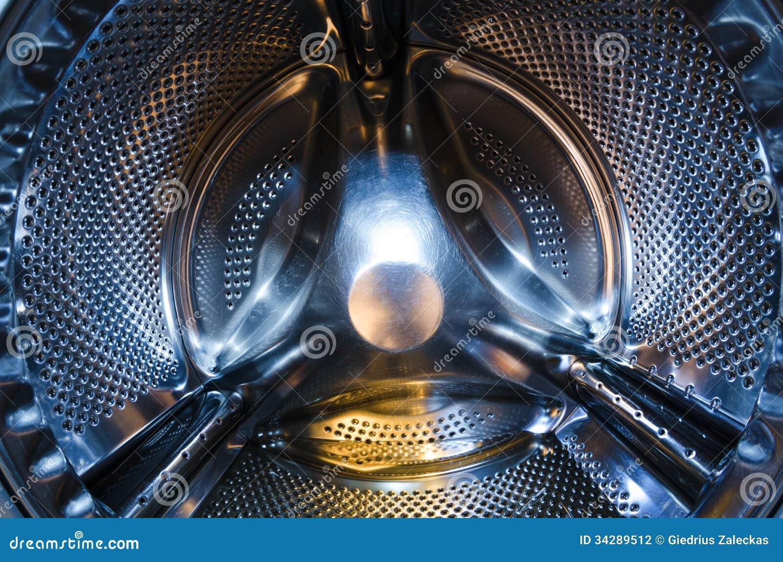 washing machine drum stock photo image of steel chrome 34289512. Black Bedroom Furniture Sets. Home Design Ideas