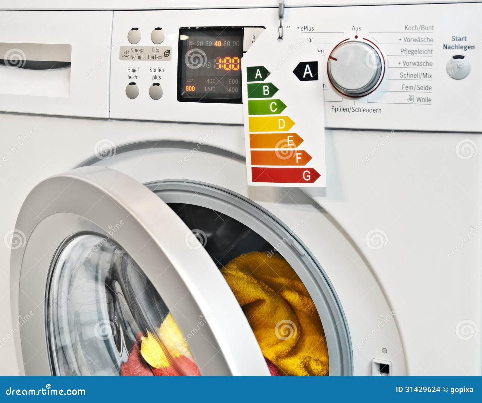 energy washing machine