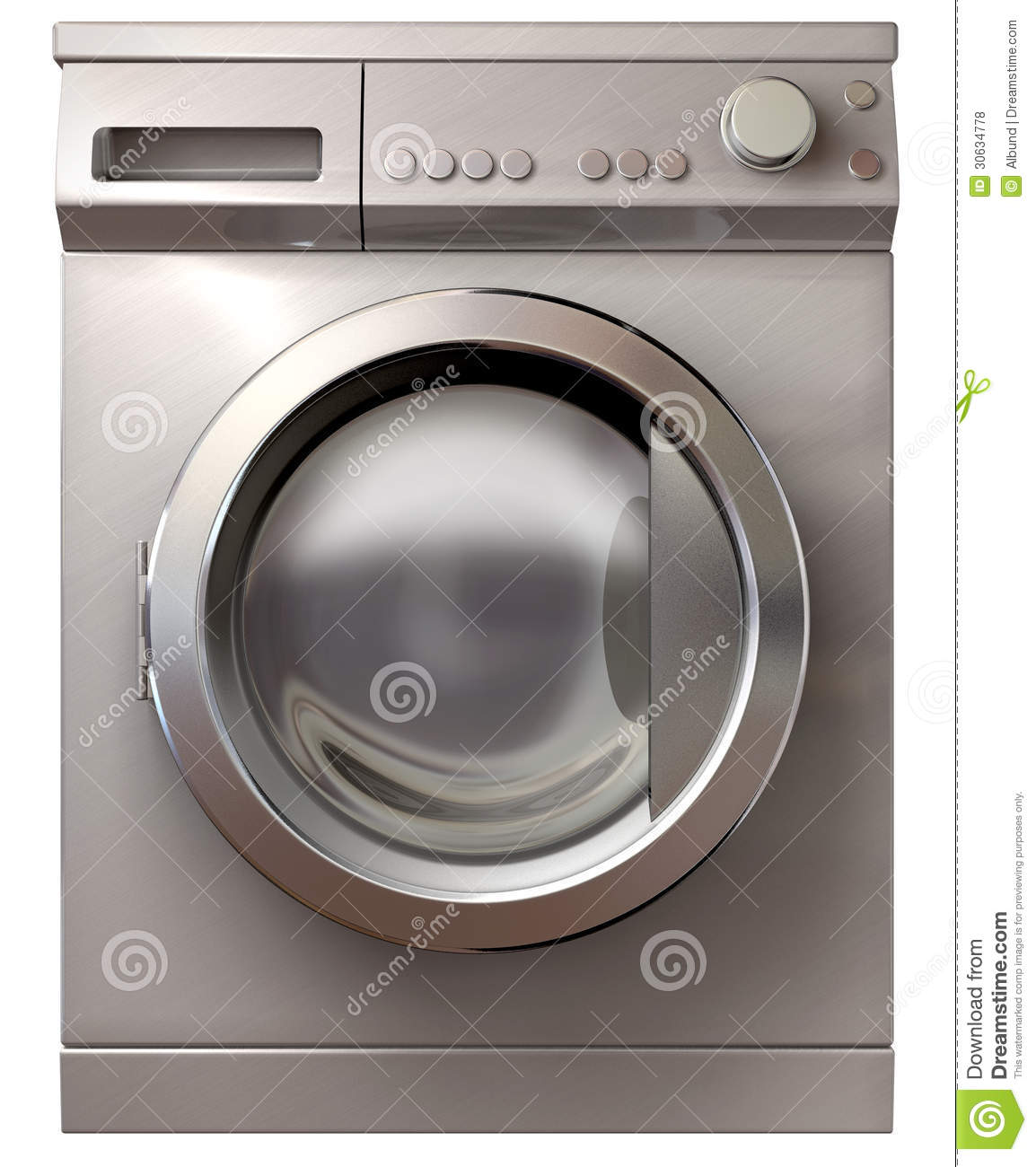 Washing Machine Front View Royalty Free Stock Photos