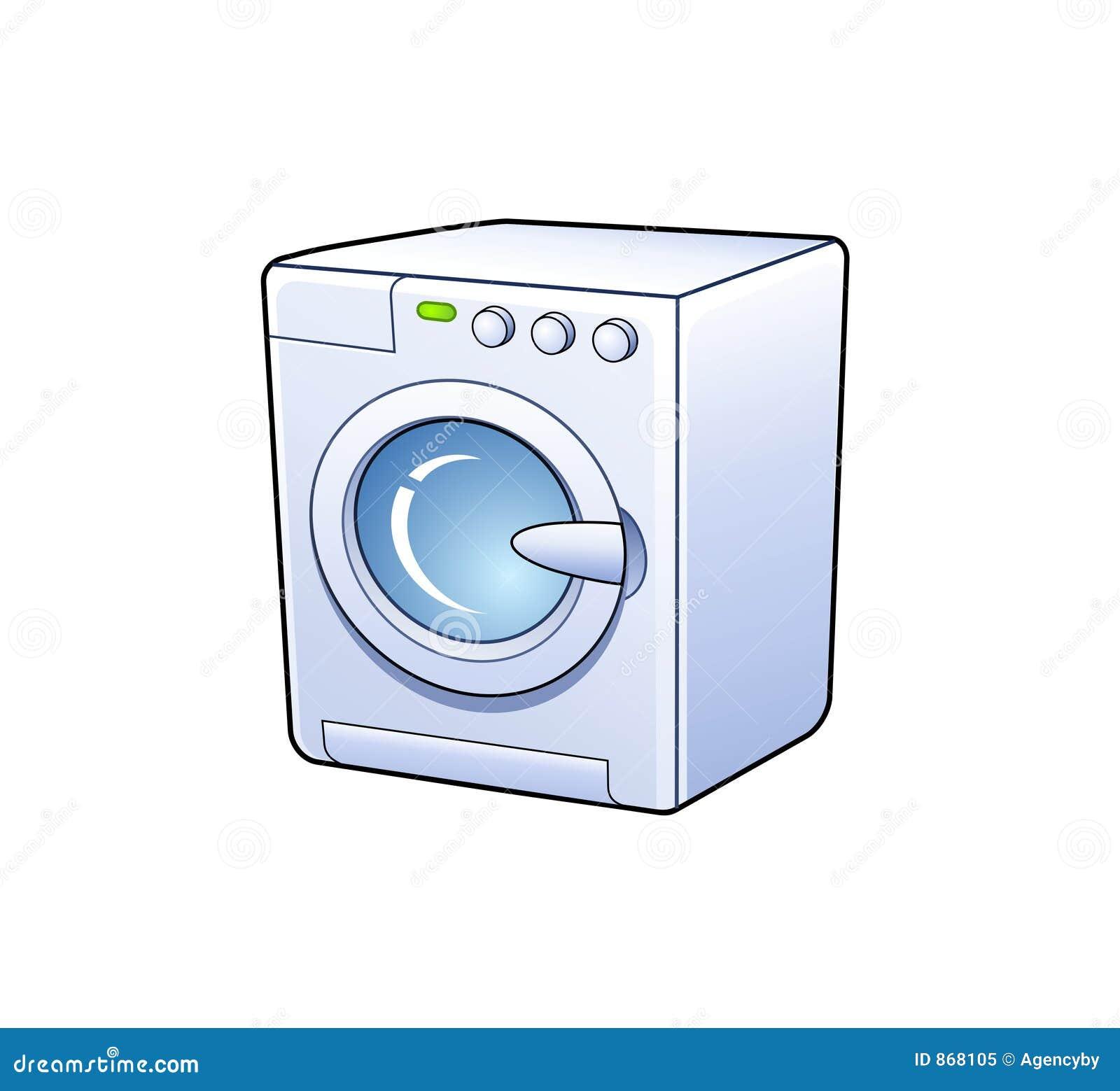 Clip Art Washing Machine ~ Washing machine icon stock vector illustration of metal