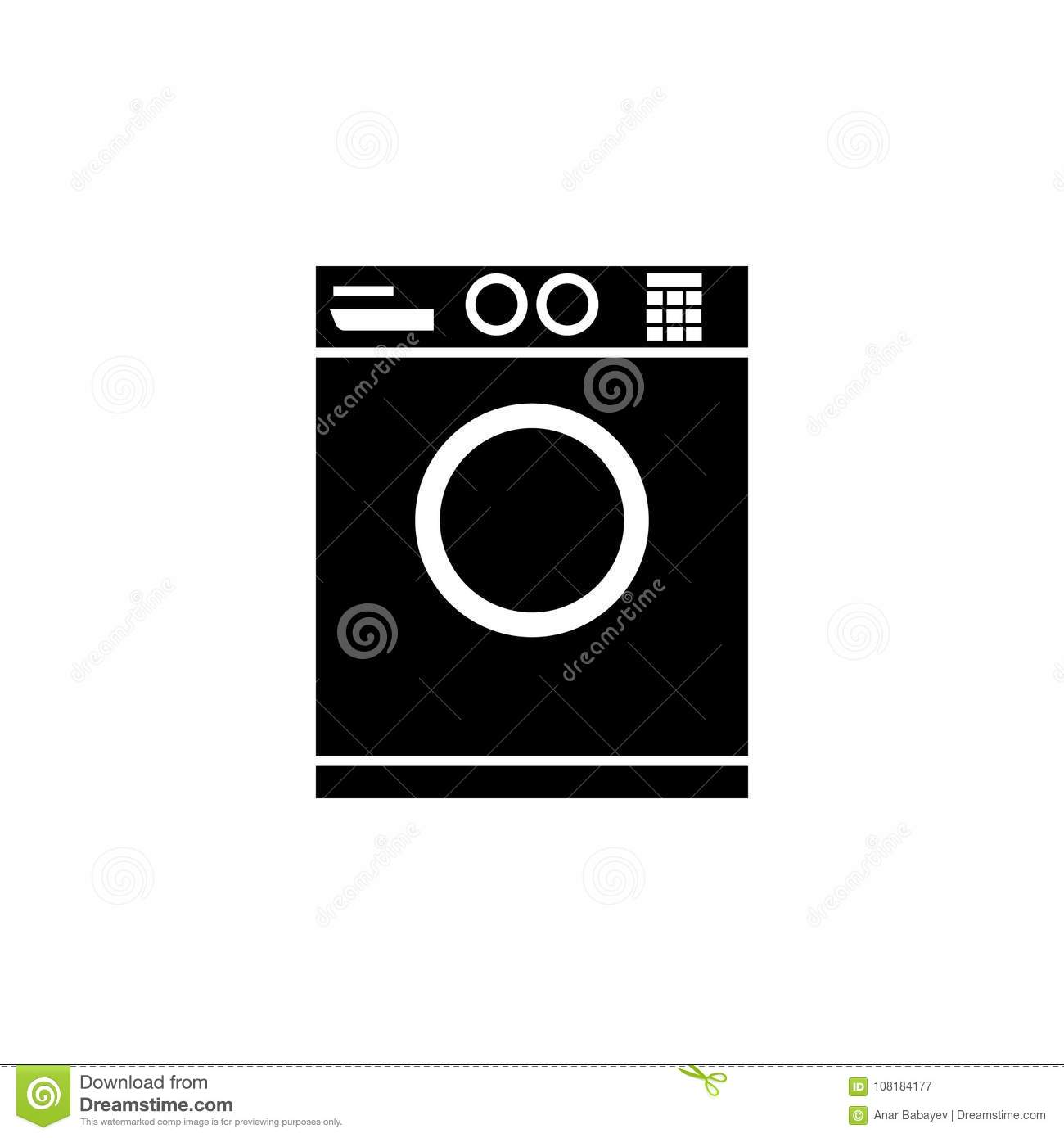 b21b8af25 Washing machine icon. Bathroom and sauna element icon. Premium quality  graphic design. Signs, outline symbols collection icon for websites, web  design, ...