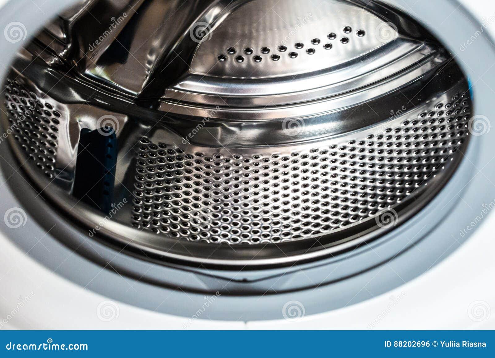washing machine inside stock photo image of blue clean 88202696. Black Bedroom Furniture Sets. Home Design Ideas