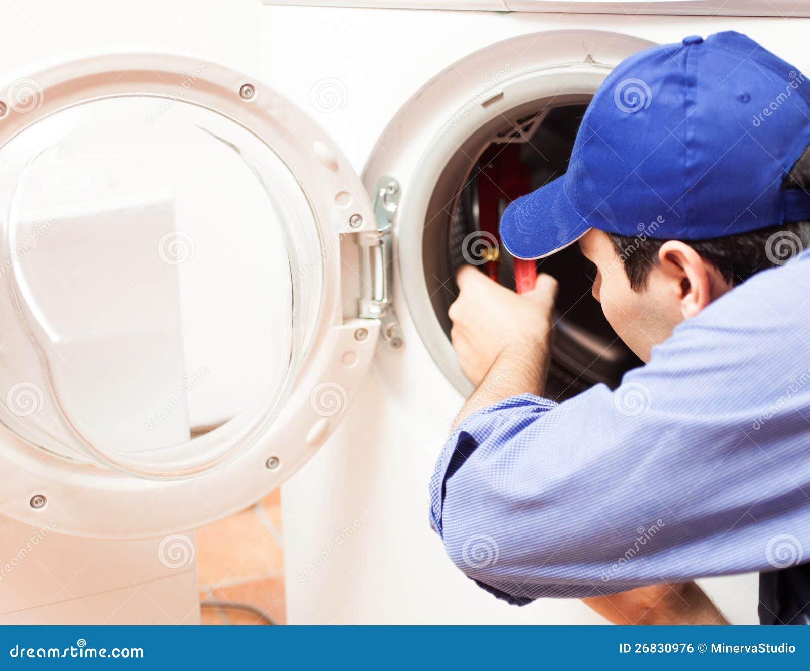 Washing Machine Repair Royalty Free Stock Image Image