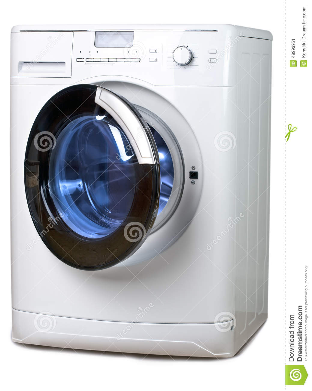 The Washing Machine On A White Background Royalty Free