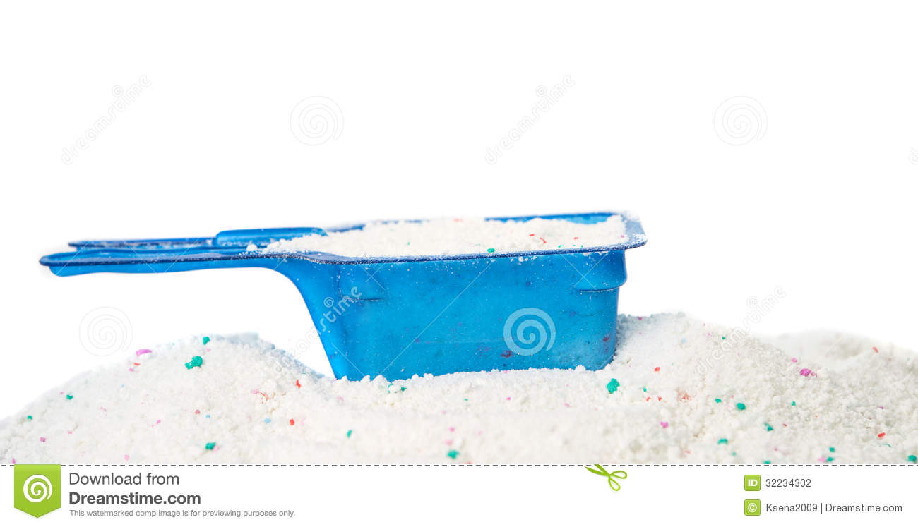 Washing Powder In A Measuring Cup Stock Photo Image Of