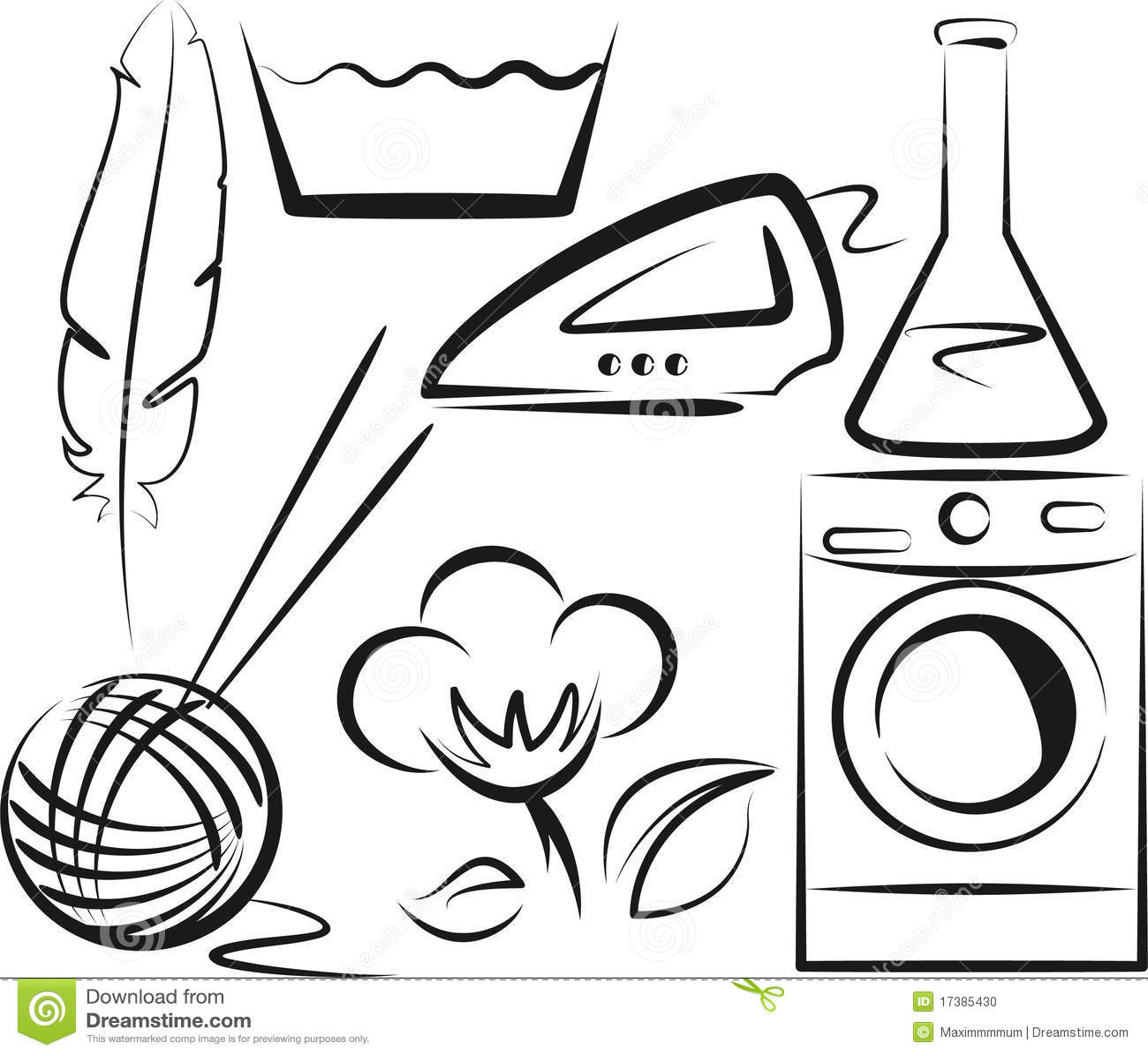 Washing symbols stock vector illustration of machine 17385430 washing symbols biocorpaavc Gallery
