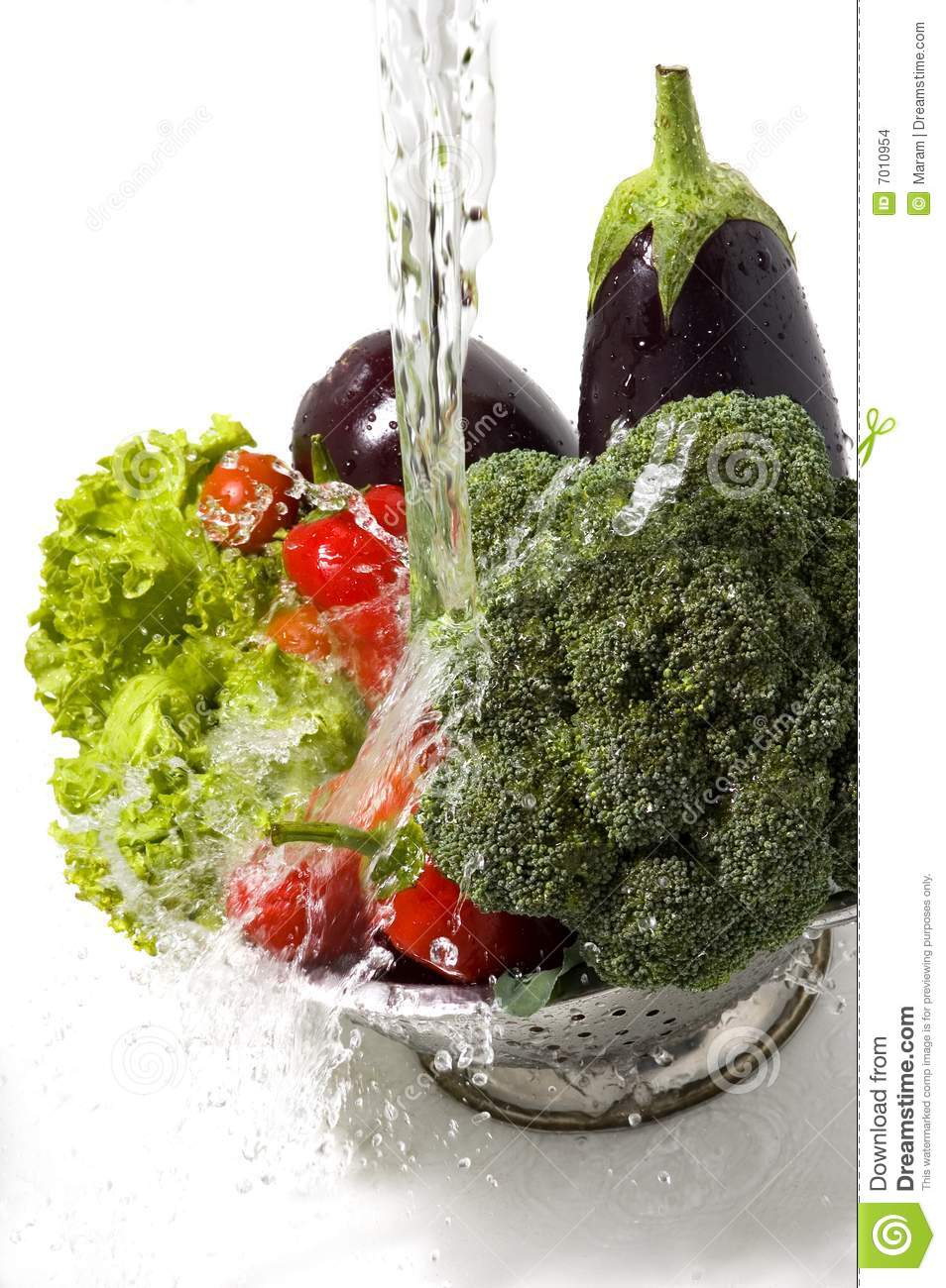 Washing Vegetables Stock Images