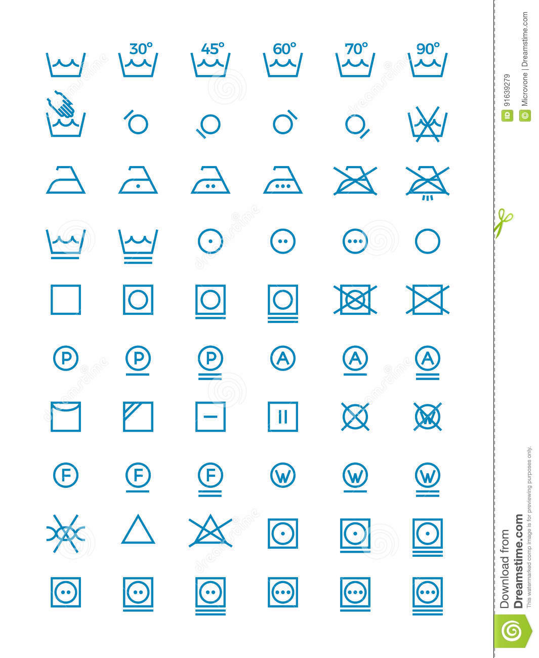 Washing and wringing drying and ironing vector symbols for clothes washing and wringing drying and ironing vector symbols for clothes labels garment care line icons biocorpaavc Image collections