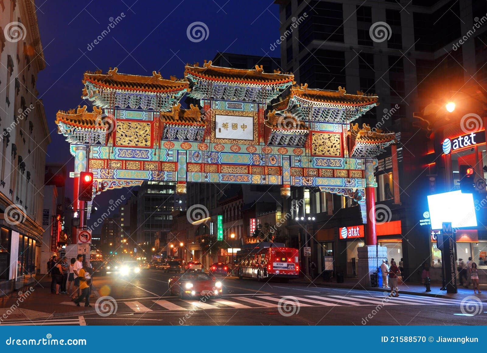 Washington Chinatown na noite, C.C., EUA