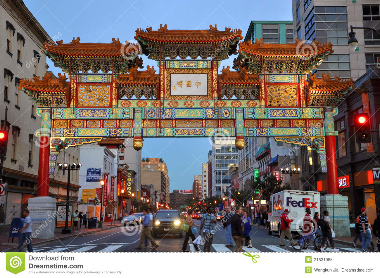 Royalty Free Stock Photo Washington Chinatown Night Dc Usa Image21631985 on 3d art deco architecture