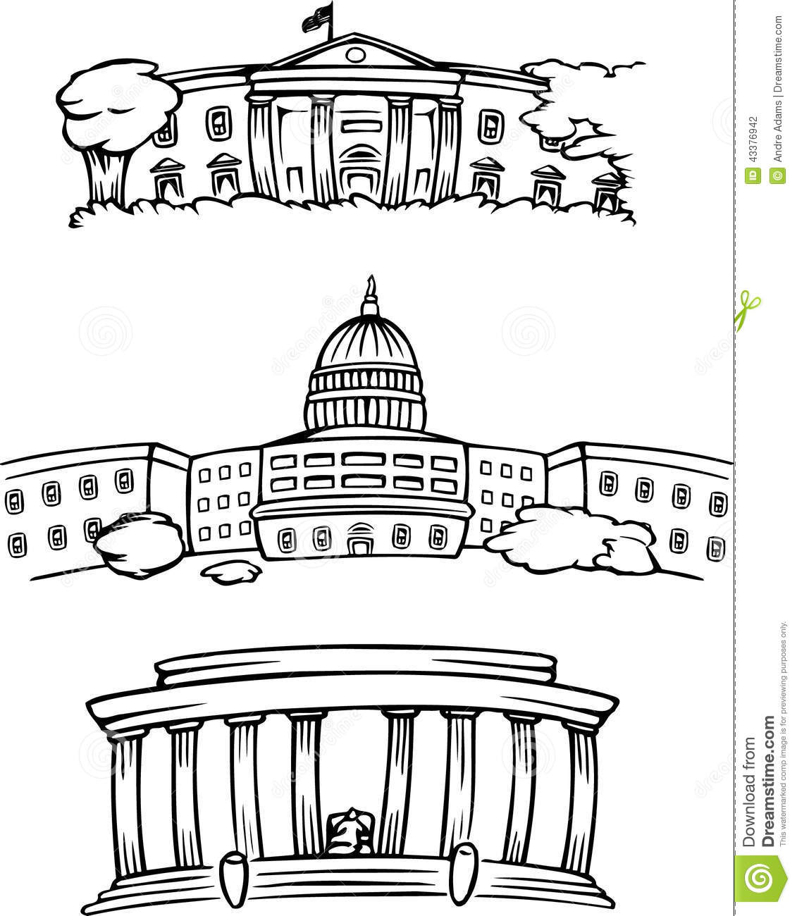 This is a graphic of Trust White House Cartoon Drawing