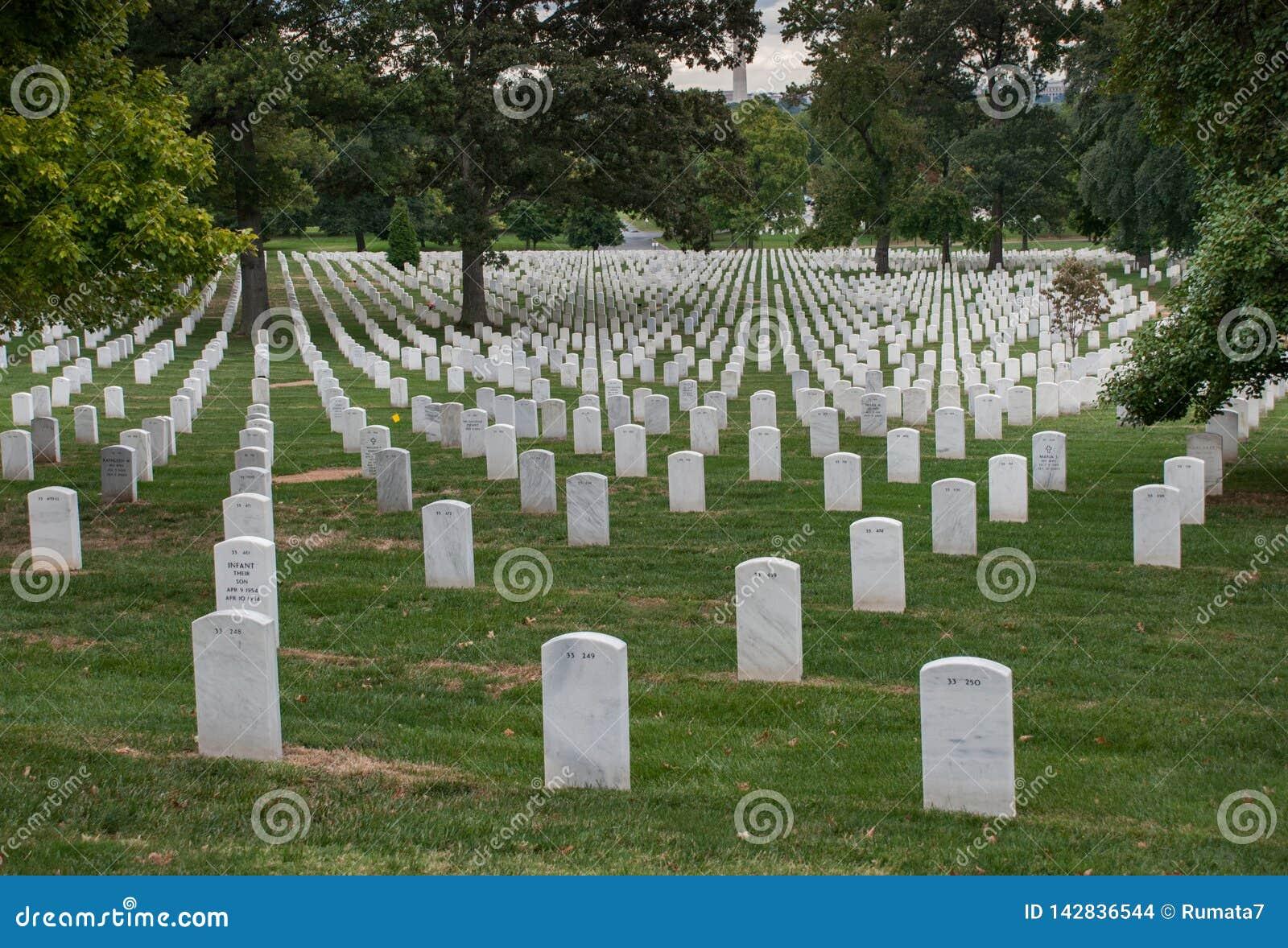 Washington DC, capitale des Etats-Unis Cimetière national d Arlington