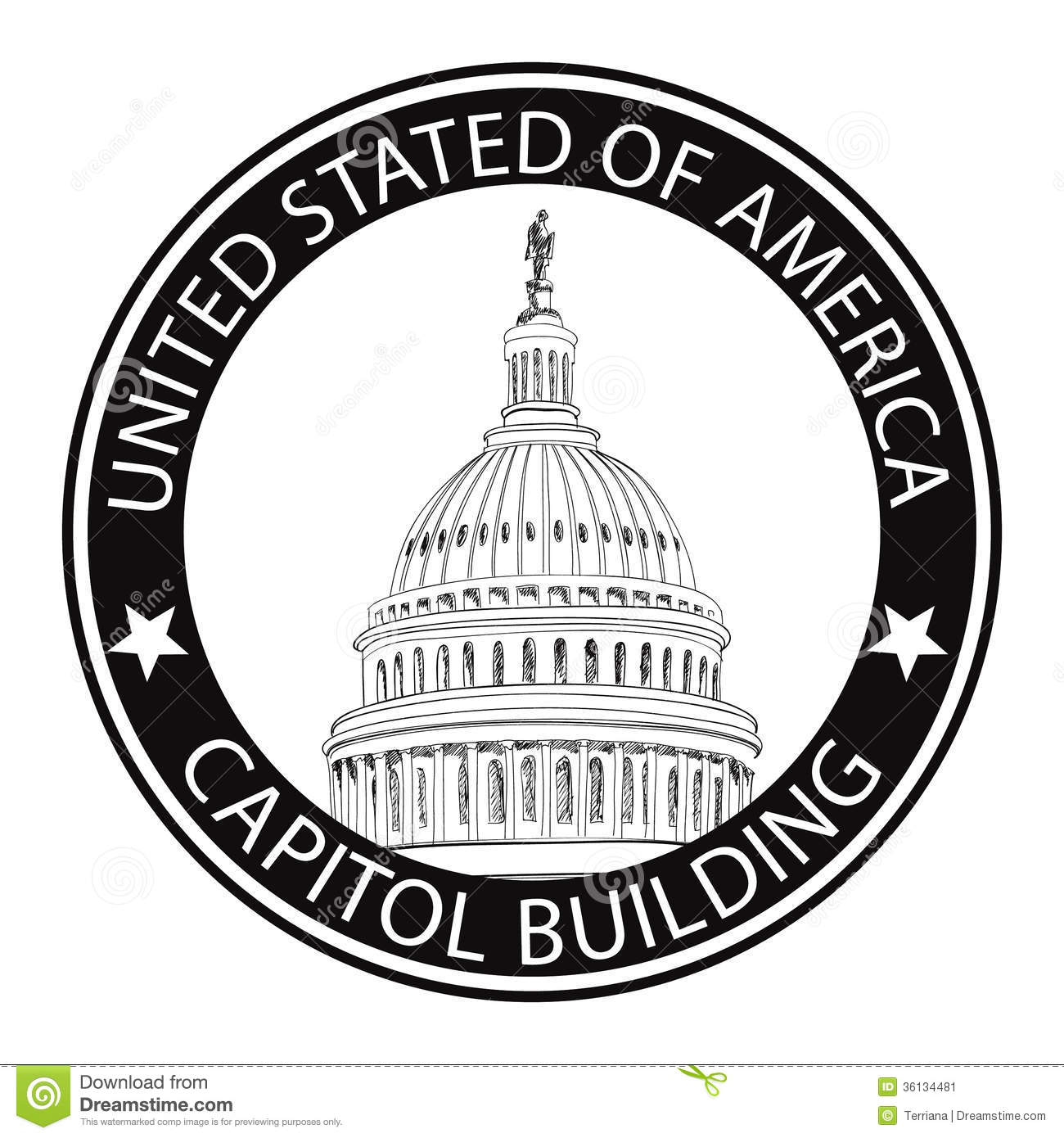 How To Draw Up House Floor Plans Washington Dc Capitol Usa Landmark Stamp Label Stock