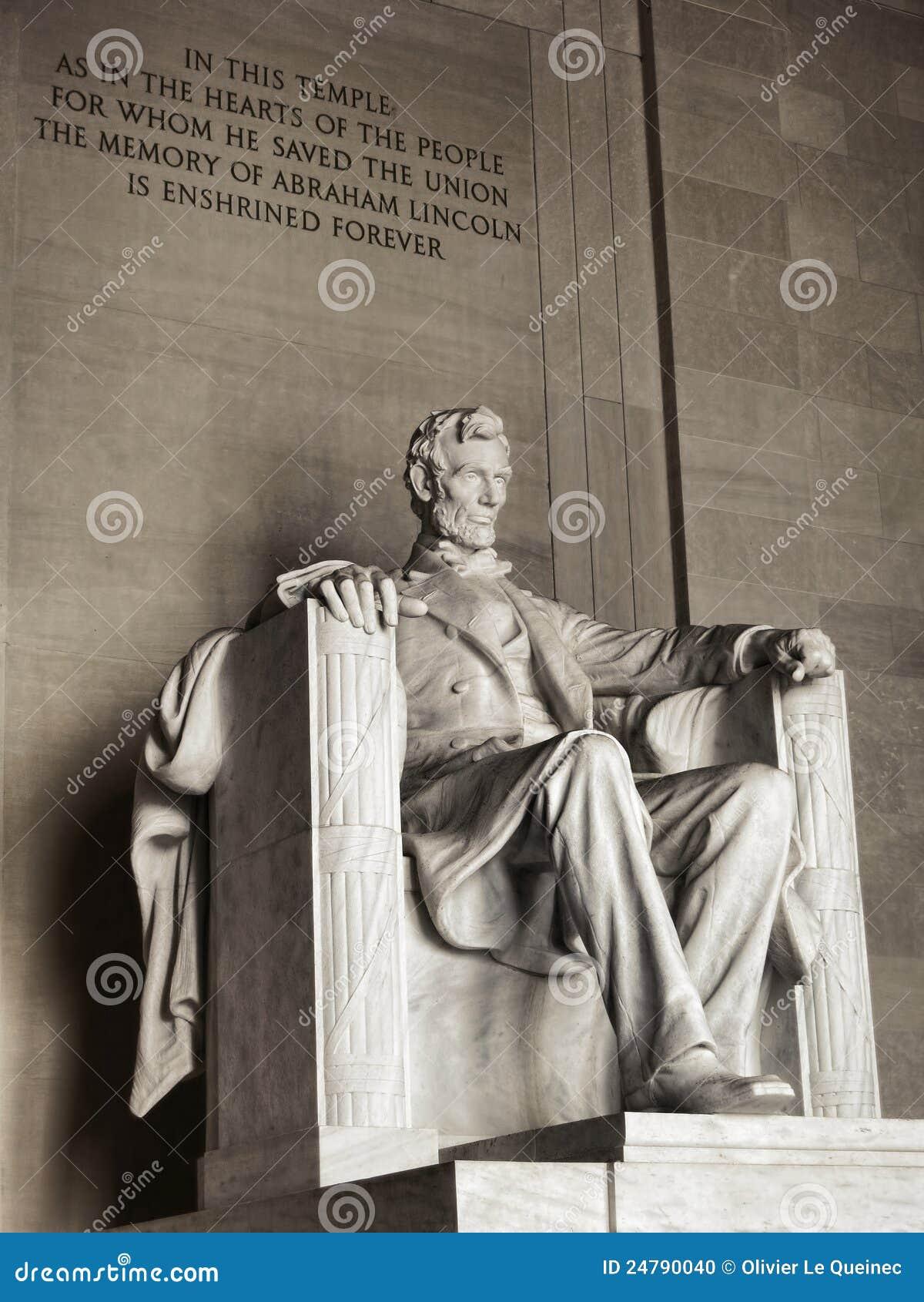 Washington DC commémoratif national du Président Lincoln