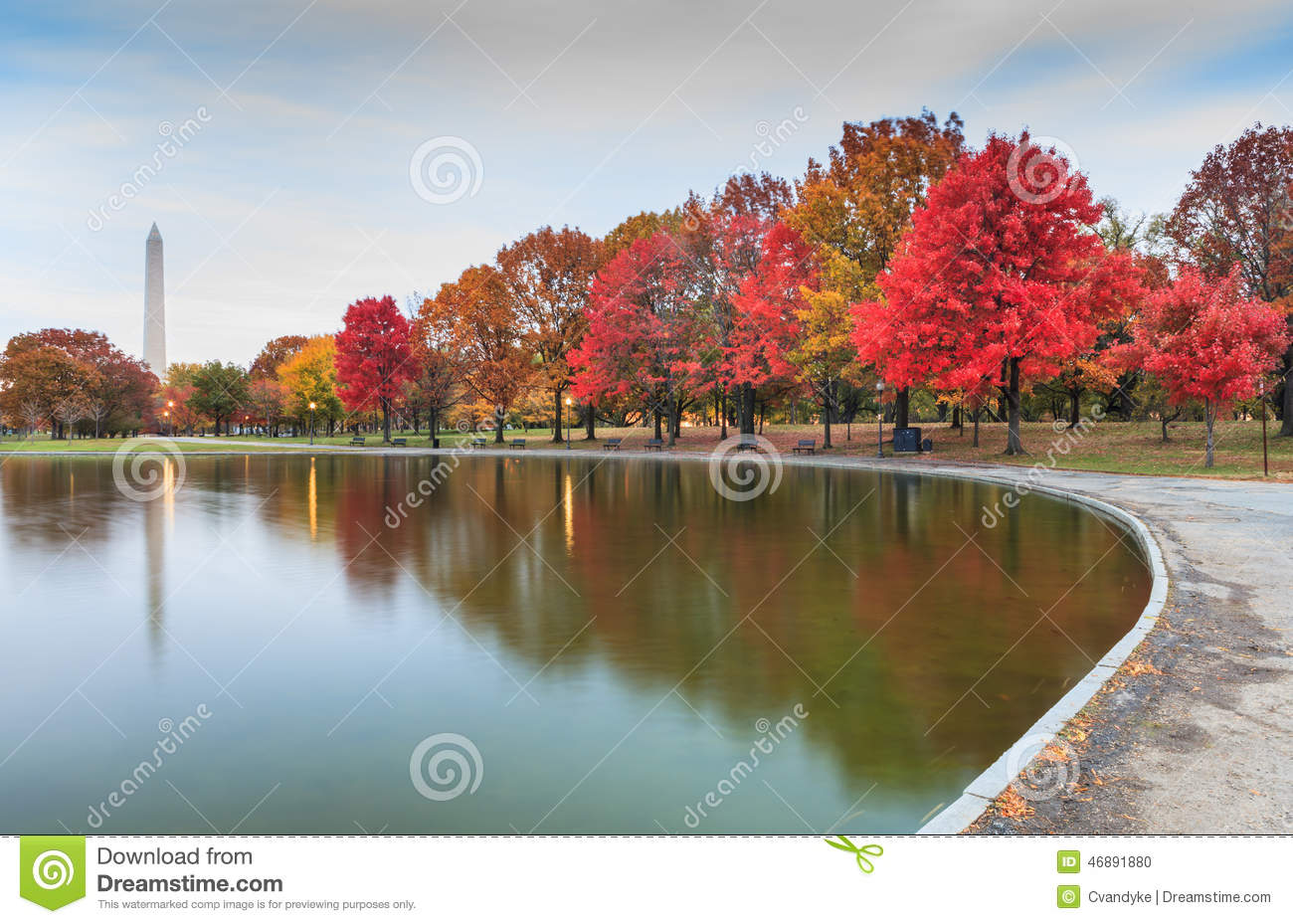 Washington DC Landmark Constitution Gardens In Autumn Stock Photo ...