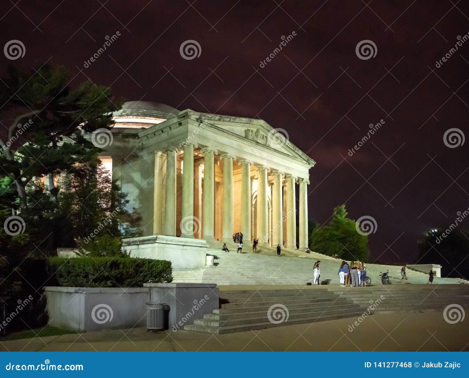 Washington DC, distrito de Columbia [Estados Unidos E.U., Thomas Jefferson Memorial, fundadores americanos,