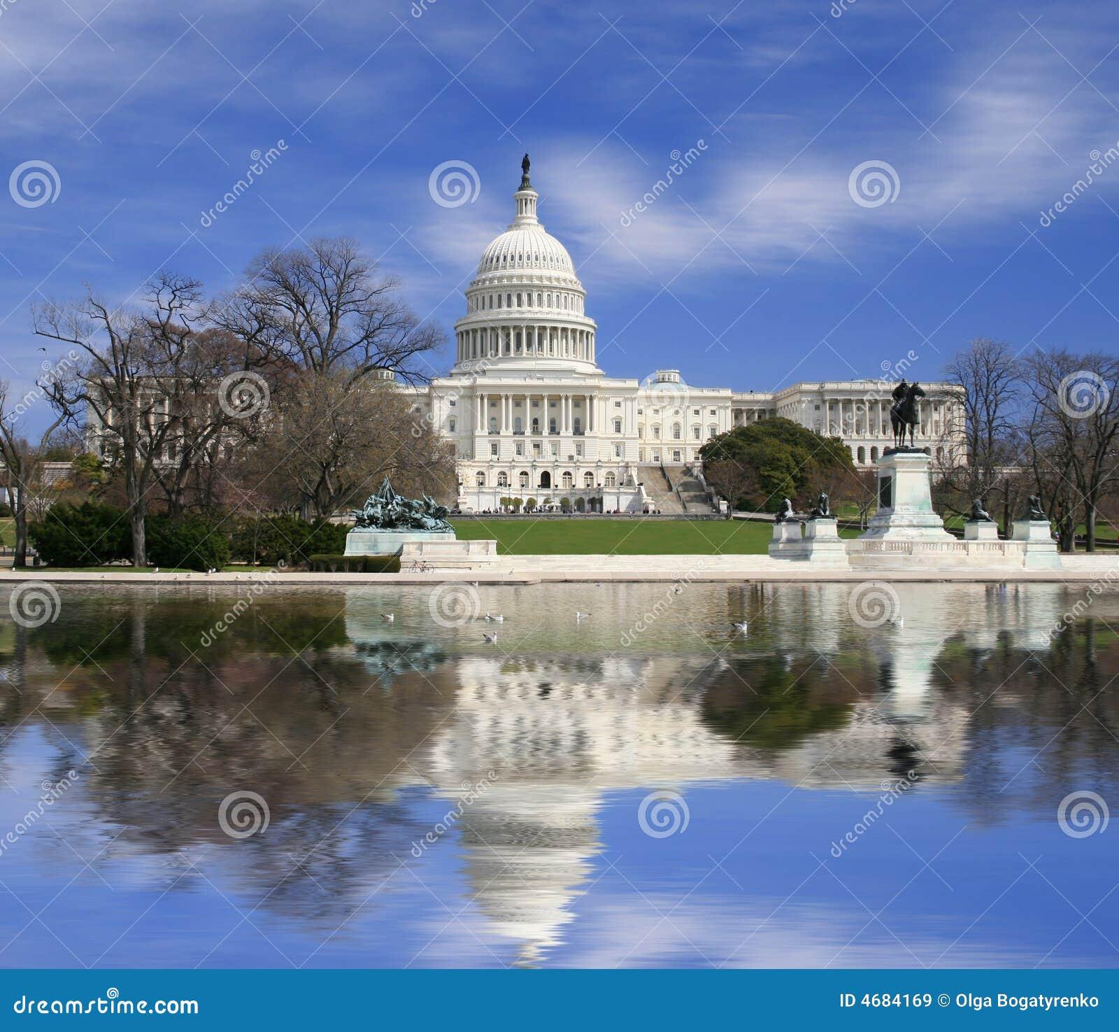 Washington DC, edifício do Capitólio dos E.U.