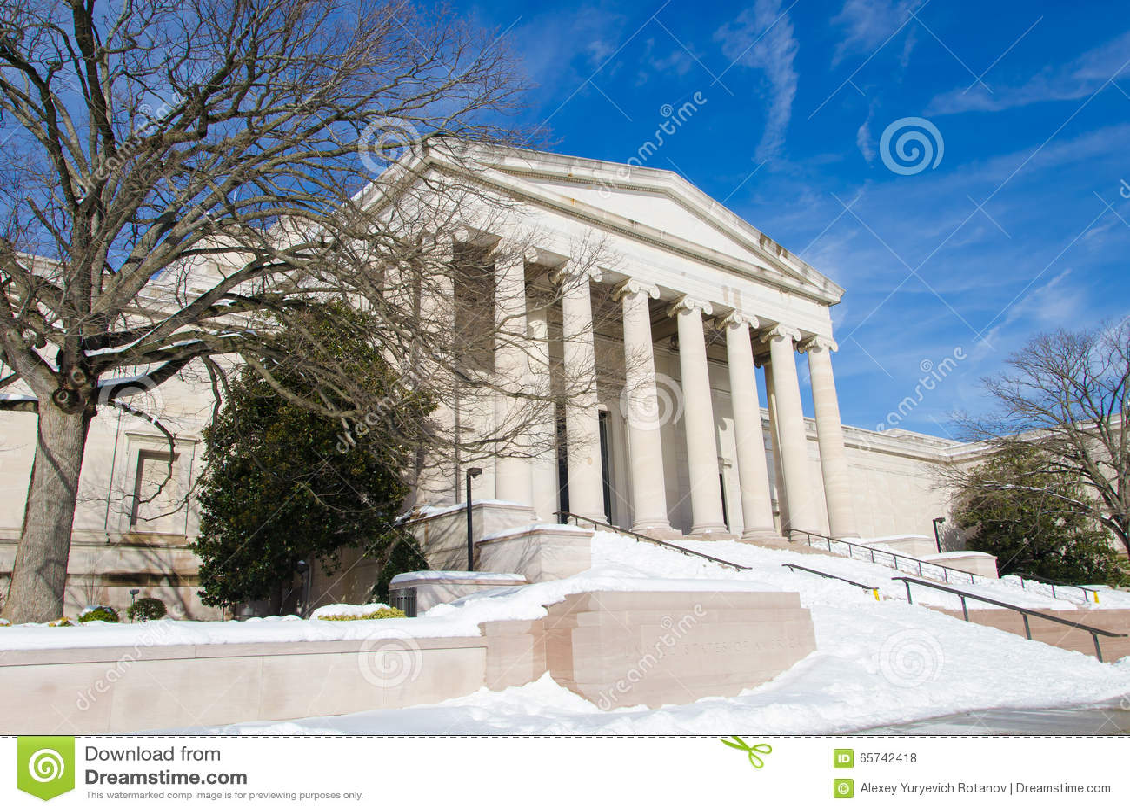 Washington DC efter snöstormen, Januari 2016