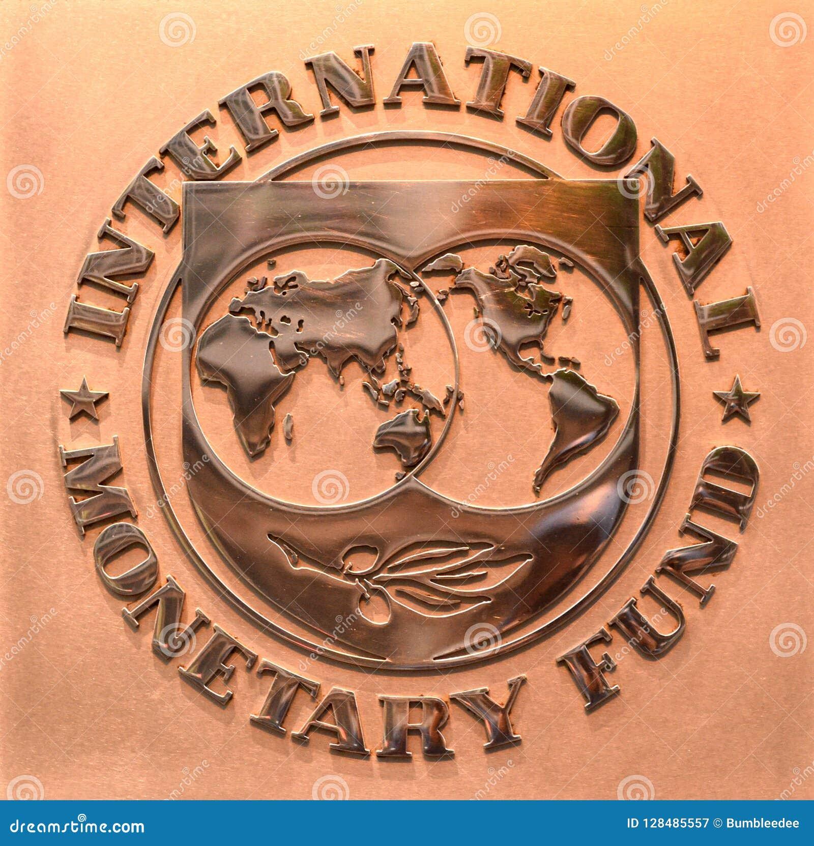 Washington, DC - June 04, 2018: Emblem of International Monetary