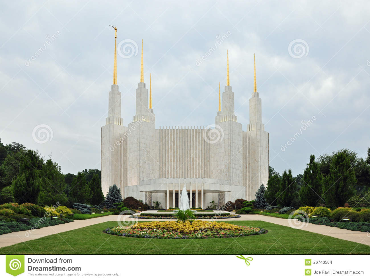 Washington Dc Mormon Temple Stock Images Image 26743504