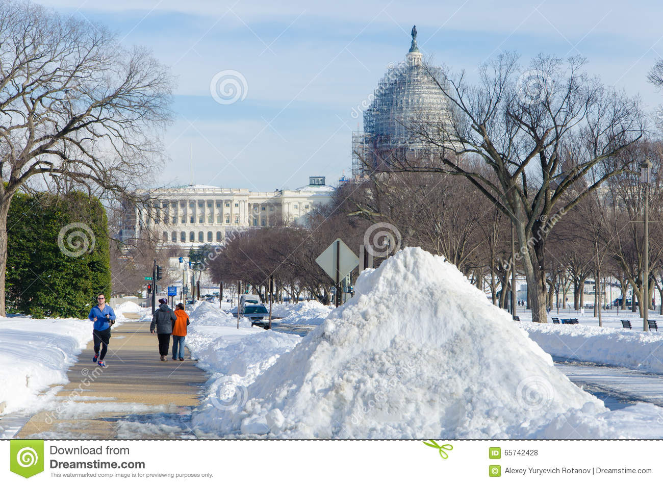 Washington DC na sneeuwonweer, Januari 2016