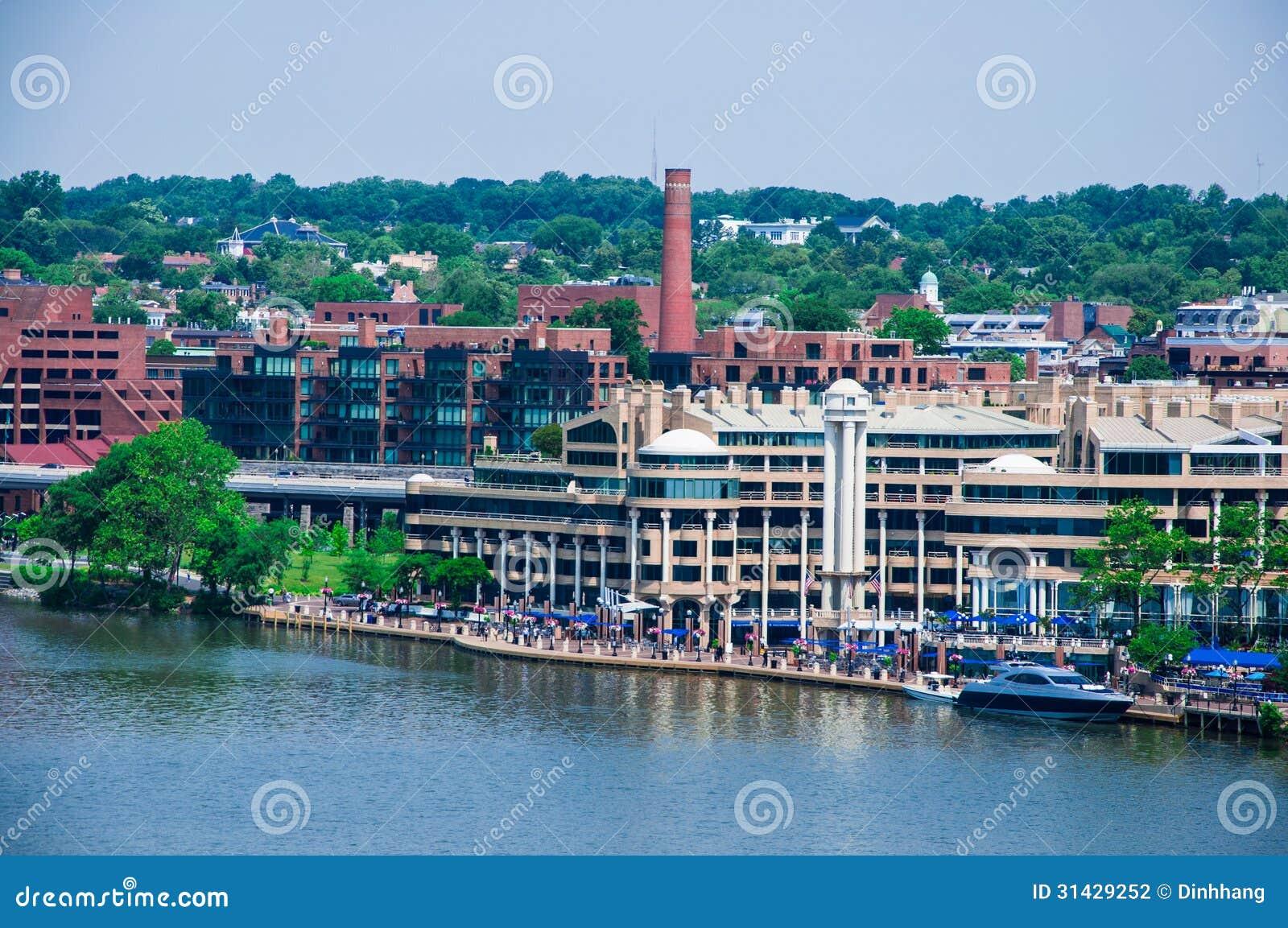 Washington DC By The Potomac River Stock Photography ...
