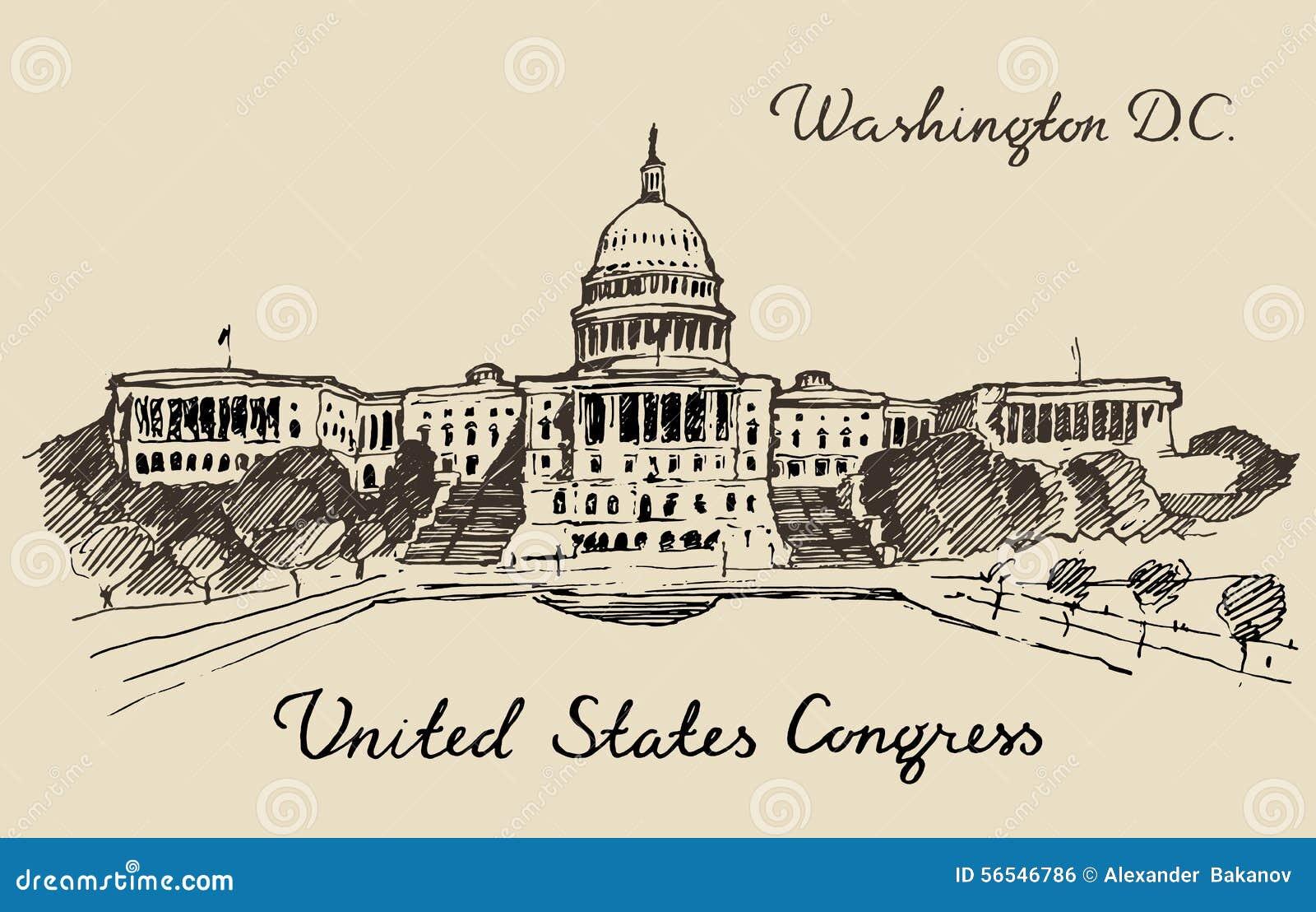Washington DC principal do Capitólio do monte do Estados Unidos
