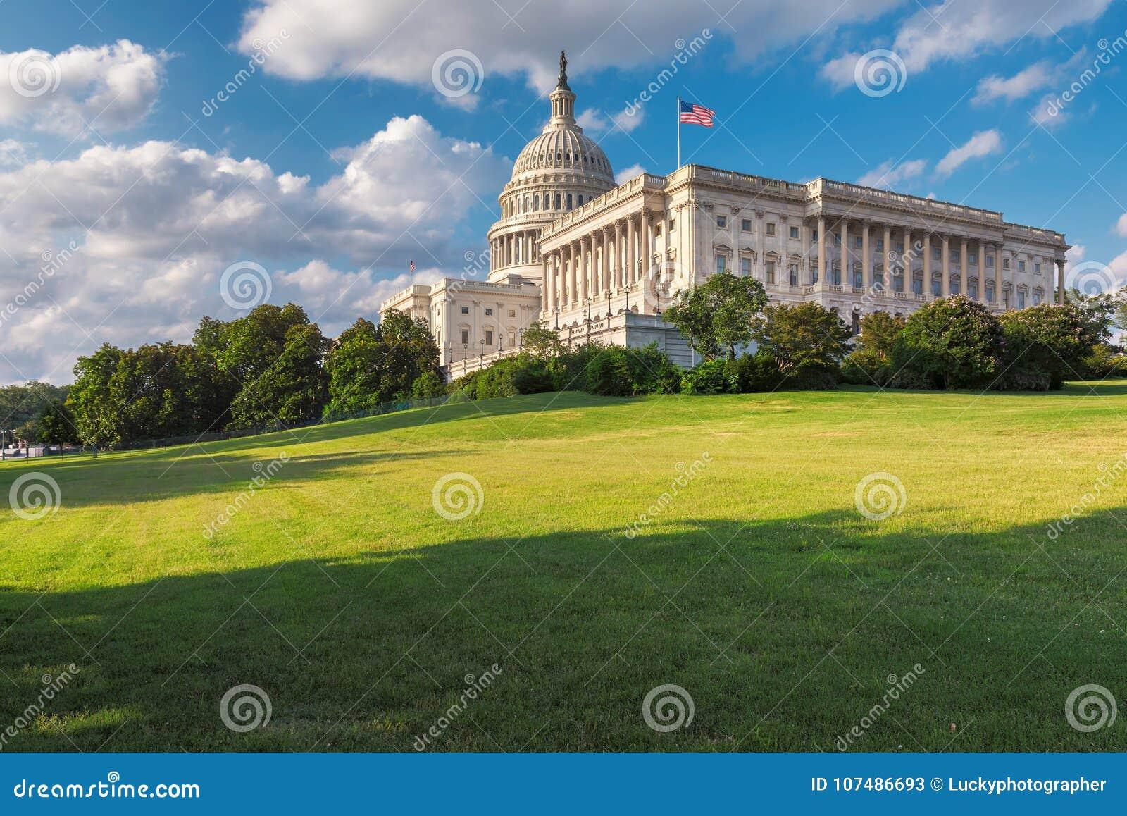 Washington DC Stany Zjednoczone Capitol na Wzgórze Kapitolu