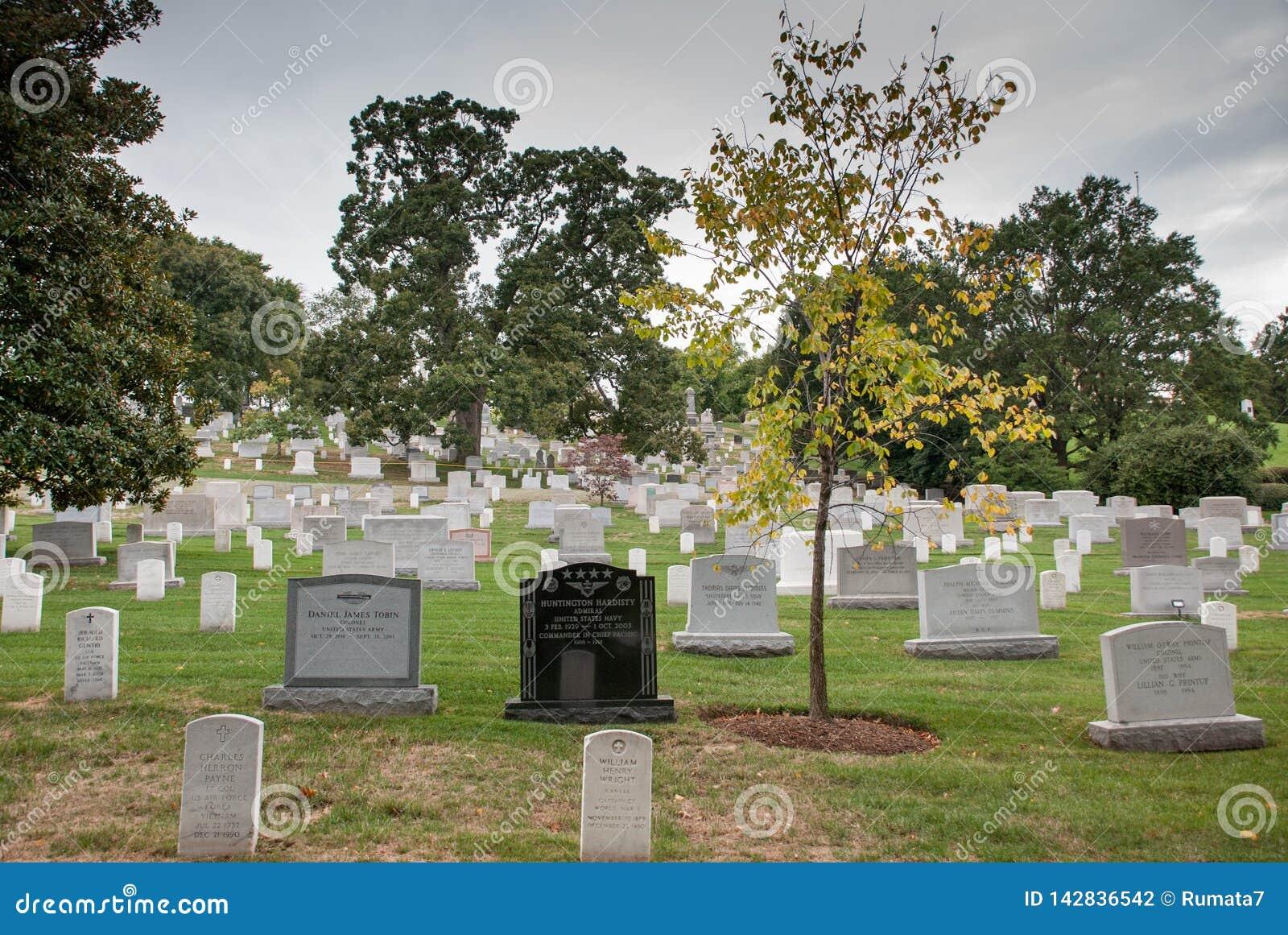 Washington DC, stolica Stany Zjednoczone Arlington Krajowy cmentarz