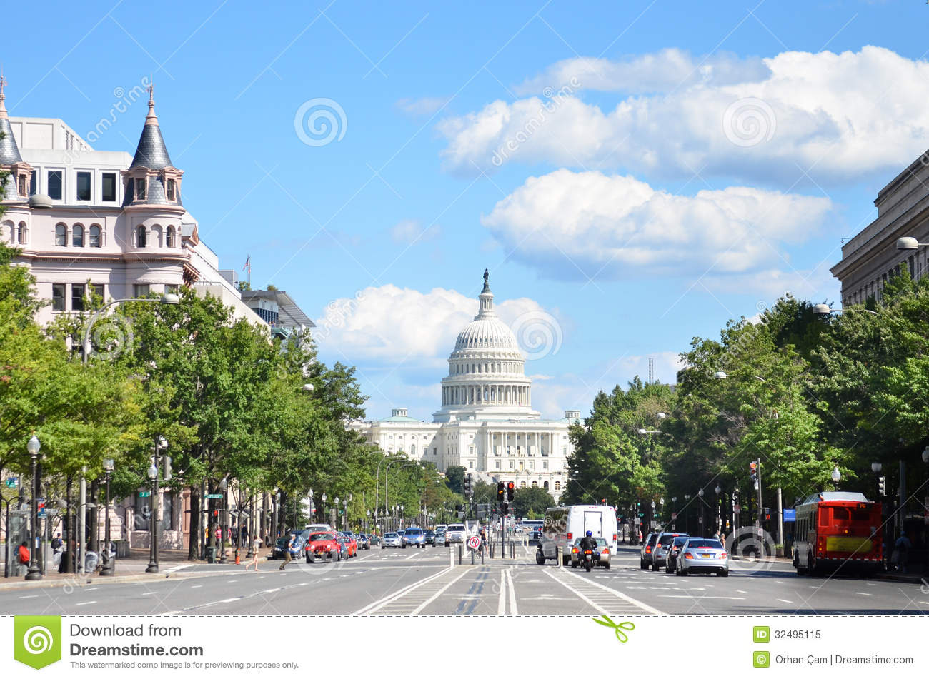 Washington Dc United States Capitol Building A View From