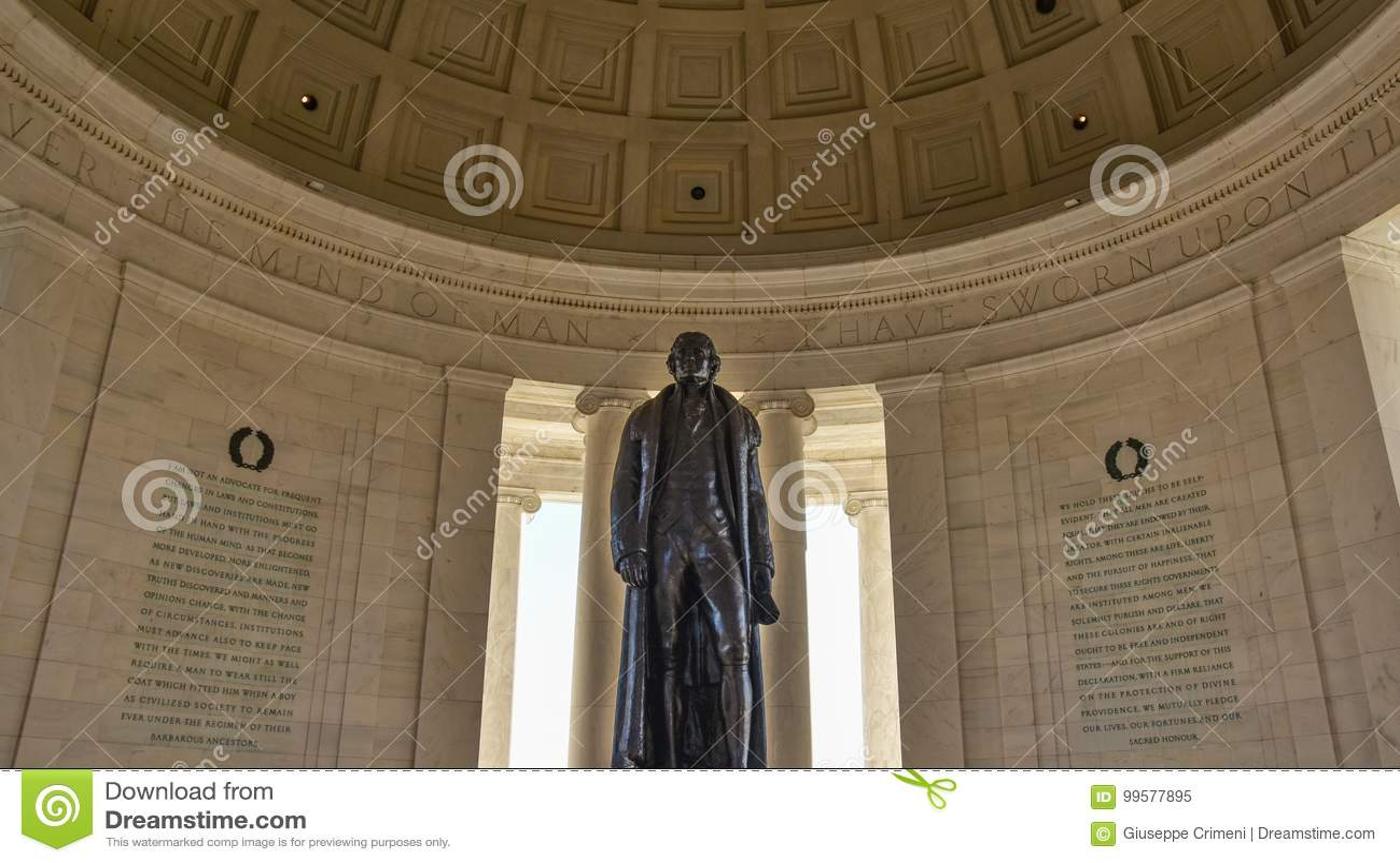 Washington DC, usa Widok Thomas Jefferson pomnik