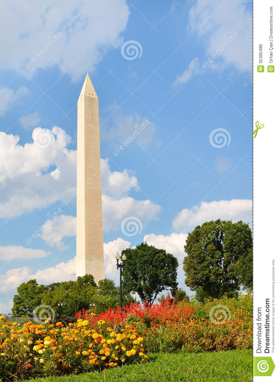 Washington DC, Washington Monument In Spring Royalty Free Stock Image ...