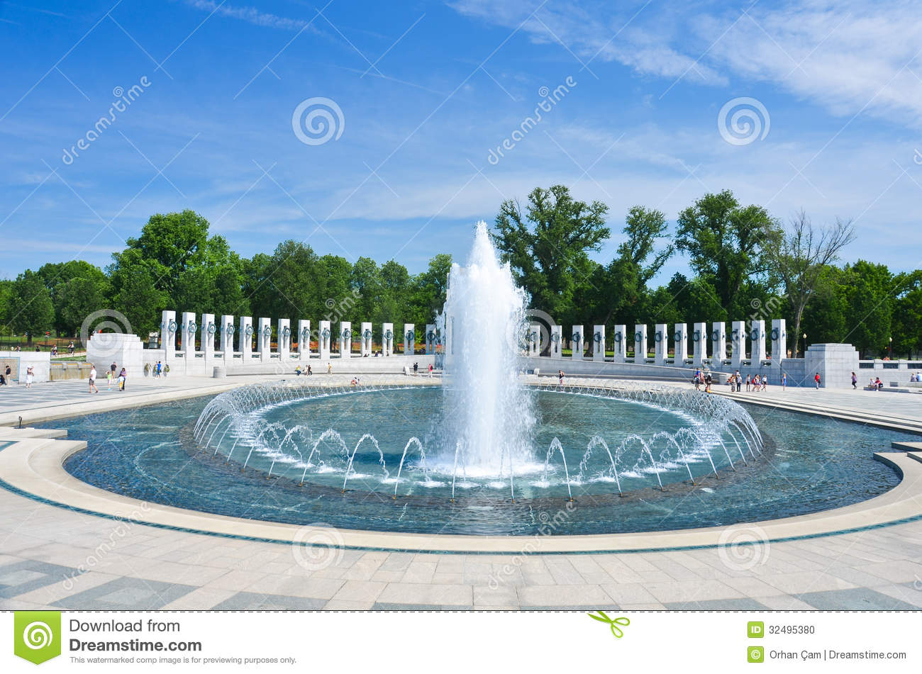 Download Washington DC, World War II Memorial Stock Photo - Image of duty, forces: 32495380