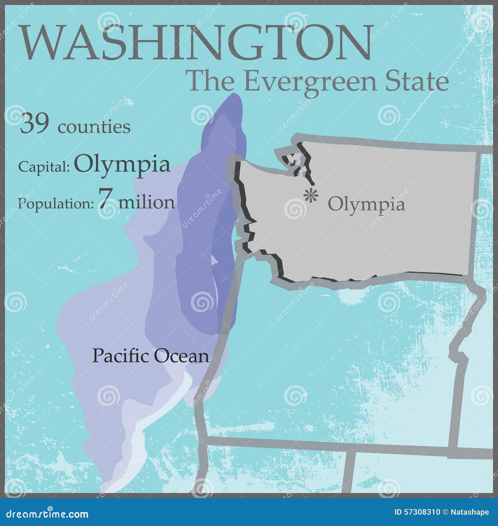 Washington den vintergröna statliga översikten
