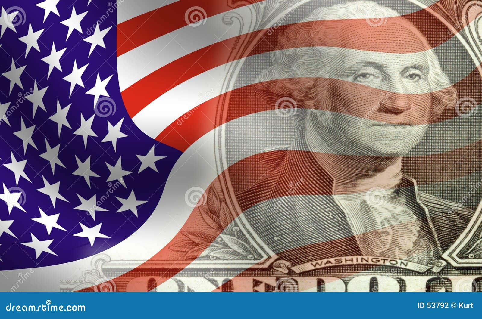 Washington infront van vlag