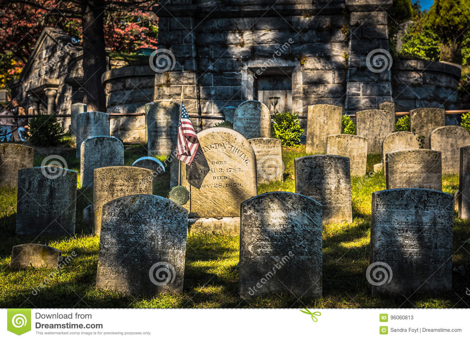 Washington Irving Grave - cavité somnolente, NY